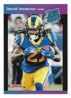 2019 Panini Instant Darrell Henderson 89' Donruss Design Rated Rookie Card /280