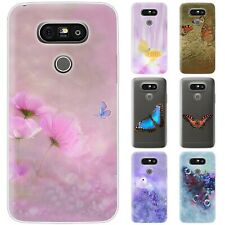 Dessana Butterflies Faux Silicone Protective Case Pouch Cover For LG