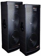 "2 Epic Audio EPX15.28C DUAL 15"" 3300 Watt DJ/PA/PRO Speaker 3-Way 8-Ohm Passive"