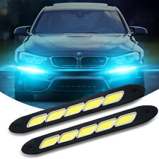 2pcs Flexible Car COB LED Daytime Running Light Driving Light DRL Super Bright