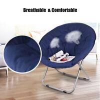 31'' Moon Chair Seat Stool Saucer Chairs Soft Folding Home Dorm Living Room Sofa