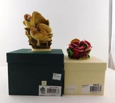 2 Harmony Kingdom Trinket Box Figurines Parade of Gifts Tender is the Night Good