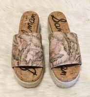 Sam Edelman Espadrilles Size 8 Women's Floral Slip On Slide Platform Sandal NWOT