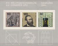 """Brd Block 19 postfrisch """" Weltpostkongress 1984 """"  ,"""