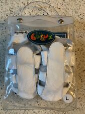 BOBUX White Soft Leather Moccasin Sandals Shoes ~ Size Large 6 ~ 15-21 Mo ~ NEW