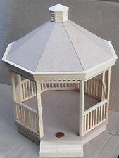 1:12 SCALA IN LEGNO KIT Victorian Gazebo Giardino Di Casa delle Bambole Accessorio di costruzione