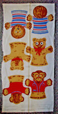 Vintage Hand puppets fabric panel Leo lion Teddy Bear Jocko Monkey