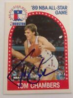 Tom Chambers 1989 Hoops Hand Signed Card Phoenix Suns
