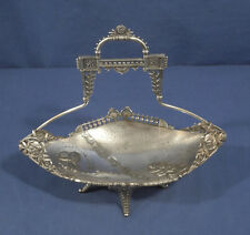 Vtg Antique Victorian Silverplate Brides Basket Aesthetic Movement Bread Fruit