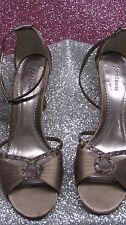 Ladies JOHN LEWIS  mocha sandals with diamante front Size 6 EU 39