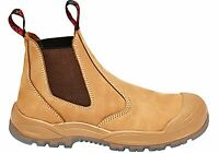 Hard Yakka Utility Gusset Pull Up Safety Steel Toe Boots Mens - WorkWearZone