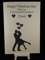 Personalised & Hand Made Kraft Valentines Day Card Husband, Boyfriend, Fiance