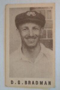 1940's Vintage G.J.Coles Cricket Card - Don Bradman