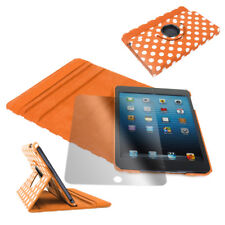 CASE COVER+SCREEN PROTECTOR SWIVEL WAKE/SLEEP PU ORANGE DOT IPAD 2ND 3RD 4TH GEN