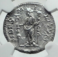 SEVERUS ALEXANDER Authentic Ancient 225AD Silver Roman Coin w FIDES NGC i81406