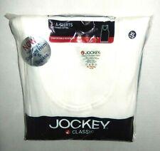 Jockey Classic Modern Fit White Cotton A-Shirts 3 Pack Men's XL (46-48)
