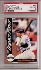 Matt Williams 1992 Score 62 PSA/DNA 6 Giants AUTOGRAPH