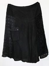 VERGE Brand Black Textured Sides Front Pocket 'Connect Skirt' Size 16 BNWT #TN02
