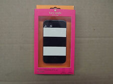 KATE SPADE IPHONE 4 4S COVER CASE BLACK WHITE STRIPED STRIPES NEW NIB