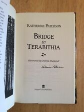 SIGNED - Bridge to Terabithia by Katherine Paterson Hardcover + Pic Unread