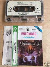 ENTOMBED - Clandestine MC RARE 1'ST POLISH PRESS 1992 MG blue