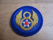 Orig Airforce US Army Ärmelabzeichen Patch Mighty Eight 8th Div Pilot Wings WWII