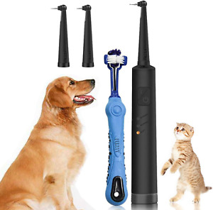 Electric Dog Cat Tartar Cleaner Teeth Polisher Pet Dental Scaler Care Tools Kit