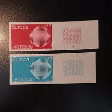 FRANCIA EUROPA Nº1637/1638 SELLO NO DENTADO IMPERF 1970 NEUF LUXE MNH