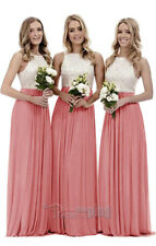 New Long Chiffon Lace Evening Formal Party Ball Gown Prom Bridesmaid Dress 4~26