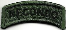 Green Black Recondo Tab Patch VELCRO® BRAND Hook Fastener Compatible