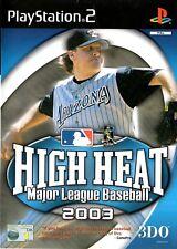 La chaleur élevée Major League Baseball 2003 PS2 (Playstation 2) - Free Post-Vendeur Britannique