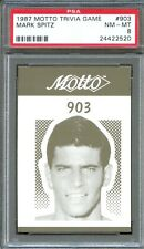 1987 Motto Trivia Card #903 MARK SPITZ Olympic Gold Medal Swimmer PSA 8