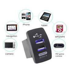 5V 3.1A Dual USB LED 12V/24V Motorcycle Car Charger Socket Adapter Power Outlet