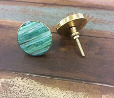 Gold Knobs Pull Shabby Chic Kitchen Cabinet Cupboard Knob Teal Knob Dresser Pull