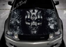 Evil Skull Hood Full Color Graphics Vinyl Sticker Wrap Decal Fit any Car #232