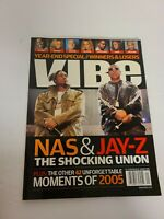 "Vibe Magazine January 2006 Jay-Z Nas Cover ""Year End Special"" Issue EUC RARE"
