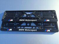 BMW number plate surrounds M sport motorsport (pair) M3 M5 M6 E60 Z4 X5 E39 E46
