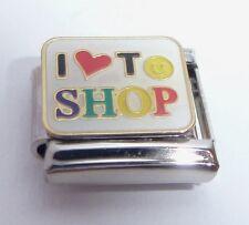 I LOVE TO SHOP Italian Charm - I'm Shopping Mad Heart 9mm fits Classic Bracelets