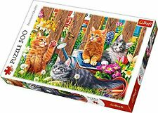 Cats In The Garden 500 Piece Jigsaw Puzzle