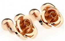 3D English Rose Gold Wedding post back Cuff Links Mens Gift By CUFFLINKS.DIRECT