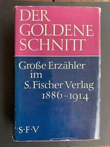 Buch - der goldene Schnitt - Große Erzähler im S. Fischer Verlag 1886-1914