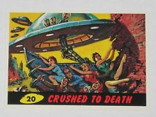 Topps Mars Attacks Trading Card 1994 Base Card Nm #20 Crushed To Death