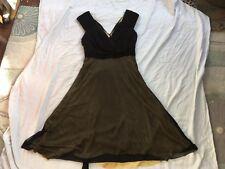 TEATRO black/gold LBD Occasion Dress Stunning! Mid Length 12 Used Vgc