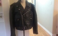 belted leather king motor cycle jacket size 44 mens