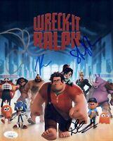 Silverman WRECK IT RALPH Cast X4 Signed 8X10 Photo Autograph JSA COA Cert