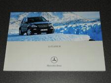 MERCEDES-BENZ SUV classe M brochure catalogue souple édition 05/2001