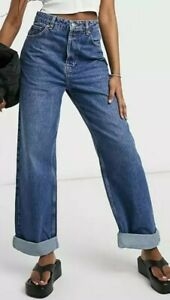 Topshop One Recycled Oversized Mom Jeans Bnwt W26 L34 8 Tall