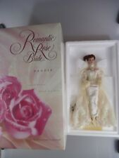 Romantic Rose Bride Barbie Porzellan Puppe Mattel 1995 (2387)