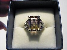 Ametrine, Amethyst & White Topaz ring (9.3ct) in 925 Sterling Silver size 8 SALE