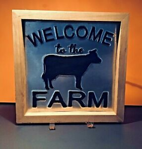 COUNTRY STYLE METAL FARM FRAME WELCOME TO THE FARM